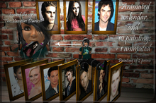 """painting """"The Vampire Diaries"""""""