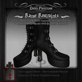 Dark Passions - Razor Restraints Boots - Black Leather