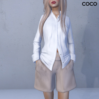 *COCO*_Shirt&Shorts(Hands in Pockets)_Beige