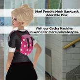 :SS: Kimi's Freebie Mesh Backpack - Adorable Pink *Gacha Prize*