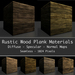 30 x Seamless Rustic Wood Plank Material Maps V1 -  Diffuse Normal Specular