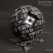 Seamless Medieval Cobble Stone Material Textures - Diffuse Normal Specular Maps