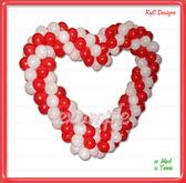 Corazon de Globos  / Heart balloons  Dollarbie