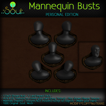.:Soul:. Mannequin Wall Busts - Personal