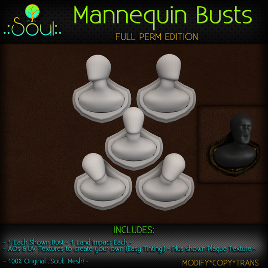 .:Soul:. Mannequin Wall Busts - FullPerm