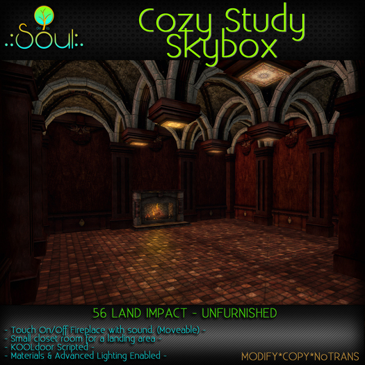.:Soul:. Cozy Study Skybox