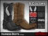 =RueMorgue= Mesh Unisex Harness Boots (8 Colors)