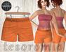*tesoromio* shorts Orange