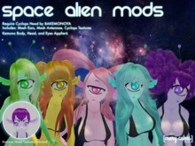 {MC} Space Alien Mods For Cyclops Head and Kemono