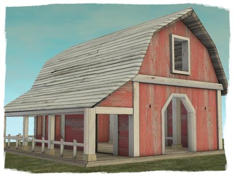 -ADI- Mesh Red Barn