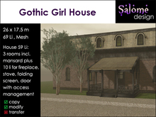 Gothic Girl House for small parcels