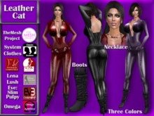 [TKS] Complete Outfit - Leather Cat