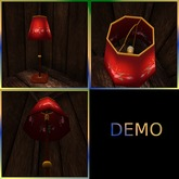 Standing Lamp. Red. Mesh. DEMO