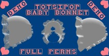 Mesh Baby Bonnet For Totsipop DEMO