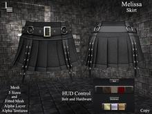 DE Designs - Melissa - Skirt - Black Cord