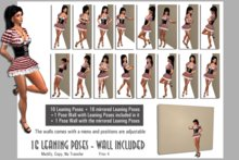 16+16 Pack Leaning Model Poses - with model walls