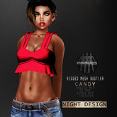 """[demo] - night's full perm rigged mesh Bustier """"CANDY"""""""