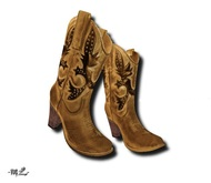 -mL- Cowboy Boots -Brown