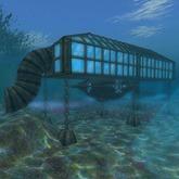 HydroLab Submarine Dock w/ Sub (47 prims)