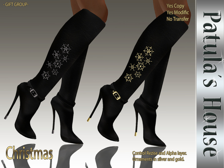 *Patulas House Christmas Boots