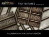 12056: Dec 09 - 11 x Seamless Medieval Beamed Ceiling Textures  - 1024 x 1024 Pixels