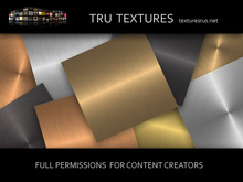12629: Sept 06 - 9 Seamless Brushed Metal Gold Steel Copper Textures - 256 x 256 Pixels