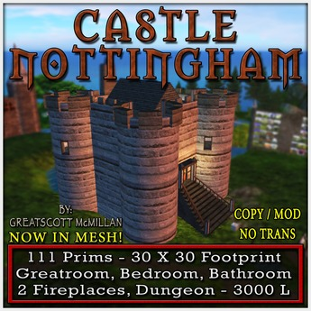 CASTLE NOTTINGHAM From Castle Clan - Mesh Castles and Cottages