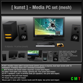 [ kunst ] - Media PC set (Copy & Mod version)
