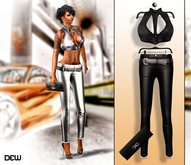 """""""DEW"""" Infinity outfit black"""