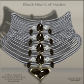 Black Heart of Hades Chrome Choker Necklace by Chop Zuey Couture Jewellery