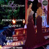 LC DESIGNS - FORMAL GOWN - GARNET