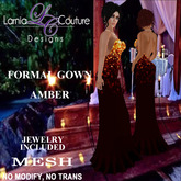 LC DESIGNS - FORMAL GOWN - AMBER
