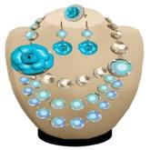 (DF) RAVESC turquoise set