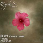 EC - Key West - Floral Hair Adornment - Pink