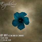 EC - Key West - Floral Hair Adornment - Turquoise
