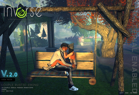 inVerse® MESH - Rustic Swing - couple, single, friends animations