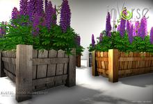 inVerse® MESH Rustic wood flowerpot - 5 pot textures