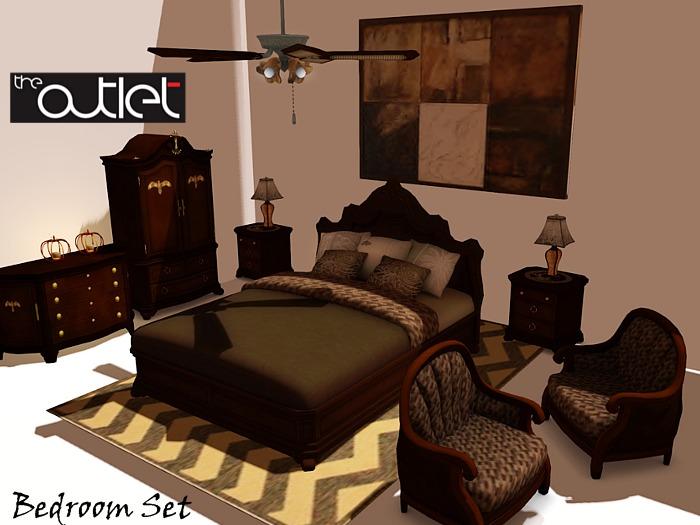 Second Life Marketplace Outlet Verrae Bedroom Set