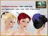 Bliensen + MaiTai - Madison Avenue - Hair - with hat - white to black