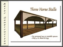 Arched Front Horse Stalls - Mesh