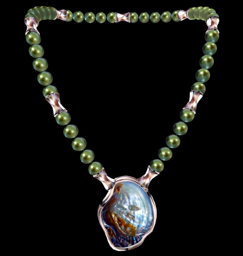 SOUTH SEA SHELL PEARL NECKLACE GIFT