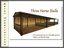 Closed Back Horse Stalls - Mesh