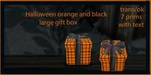 black  and orange gift box  ( large )