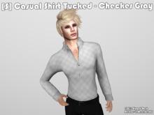 [S] Casual Shirt Tucked - Checker Gray