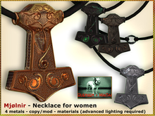 Bliensen + MaiTai - Mjolnir - Viking Necklace for WOMEN
