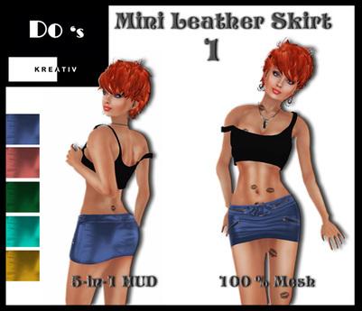 .:Do's:. Mini Leather Skirt 1