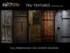 11825: Nov 09 - 10 x Medieval Wood Door Textures With Sides 1024 x 512 Pixels