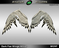 AB Dark Fae Wings White