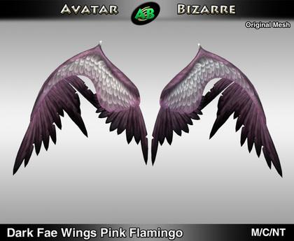 AB Dark Fae Wings Flamingo