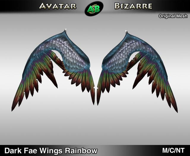 AB Dark Fae Wings Rainbow
